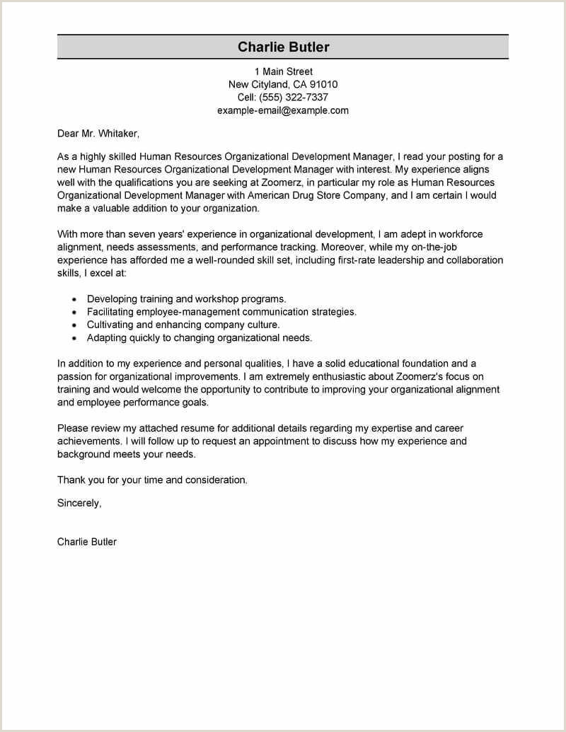 Hr Cover Letter Examples Sample Hr Resume Best Hr Resume
