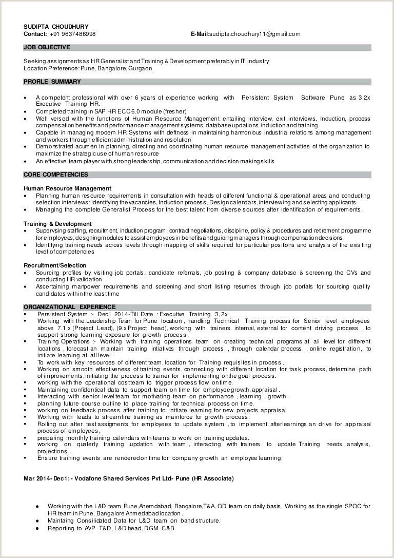 Human Resource Manager Resume Example Human Resource Manager Resume Example Beautiful Human
