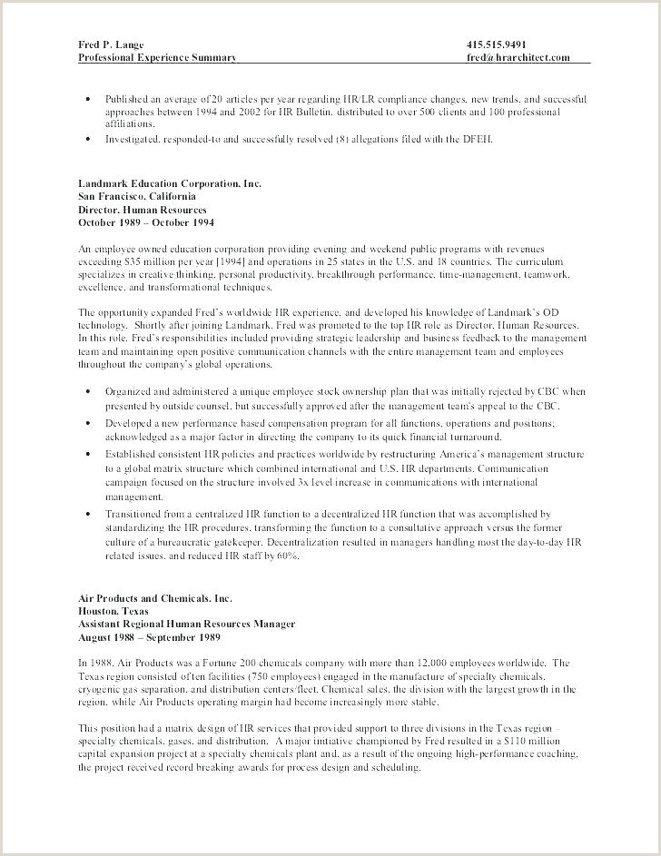 Human Resource Manager Resume Example Human Resources Job Description for Resume