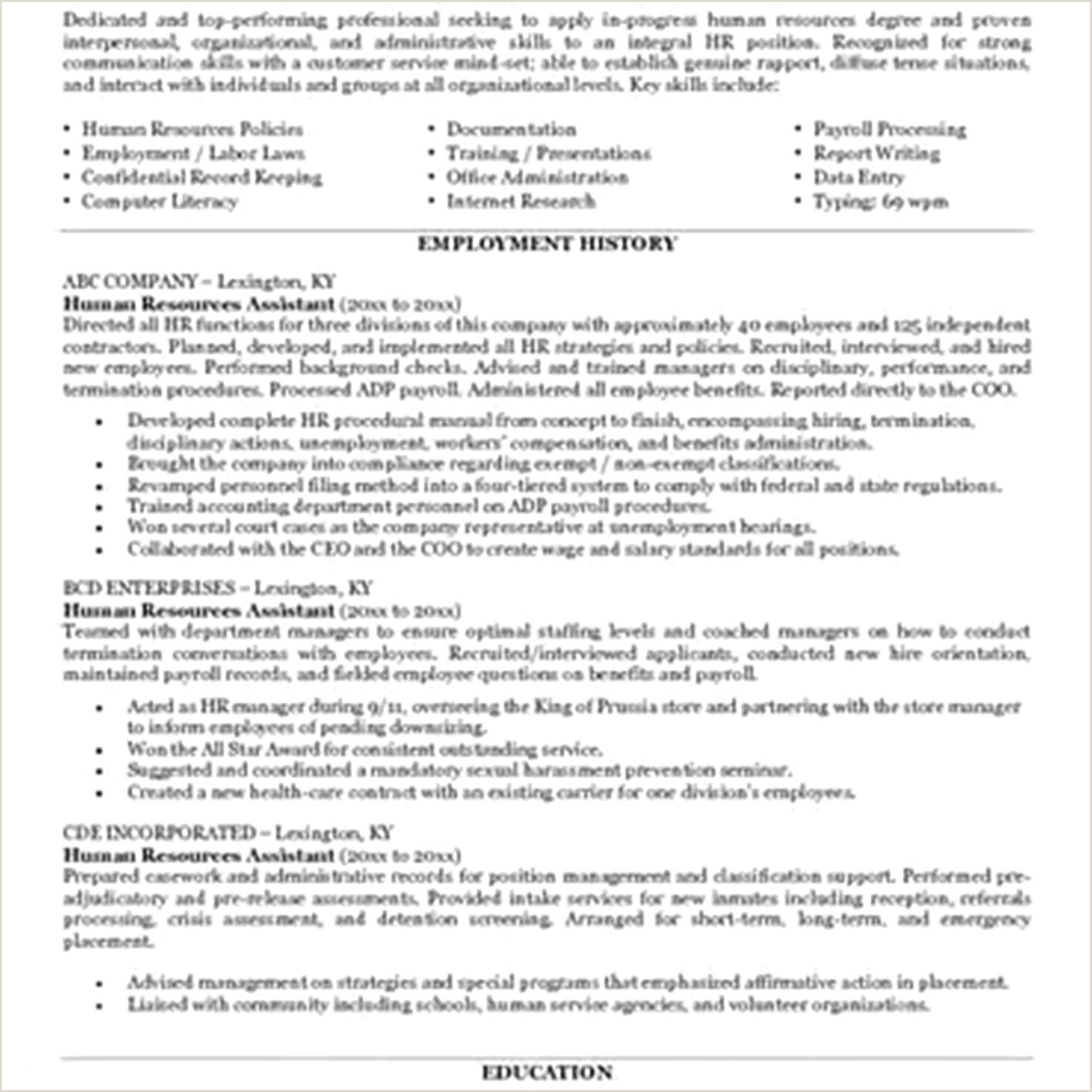 Human Resource Manager Resume Examples Human Resources Manager Resume Human Resource Manager Resume