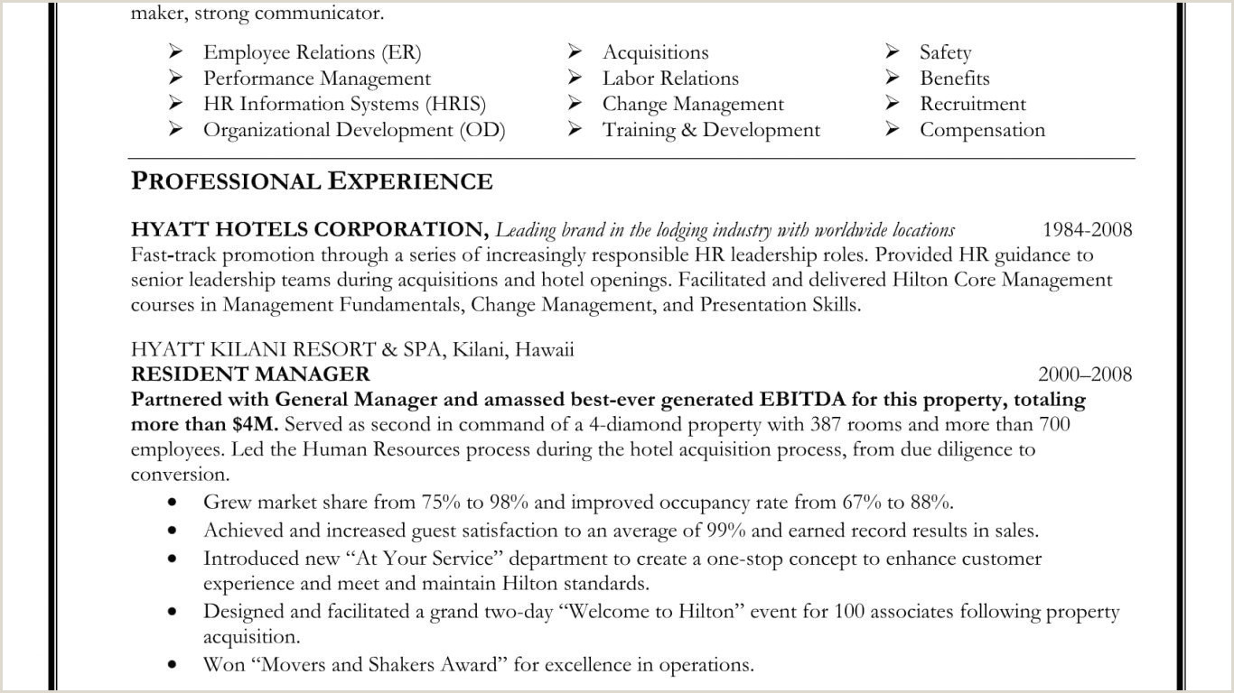 Human Resources Manager Resume Sample Human Resources