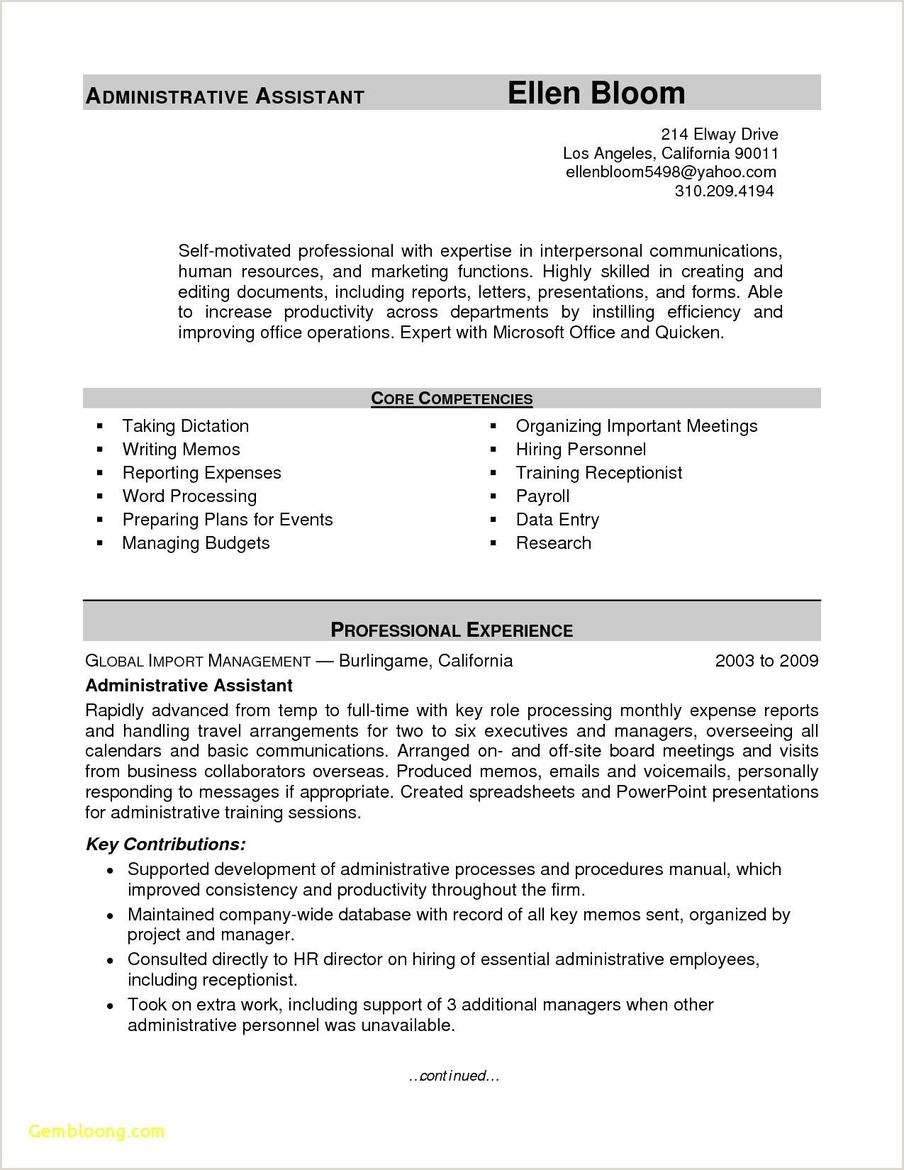 Inspirational Hr Manager Resume Sample