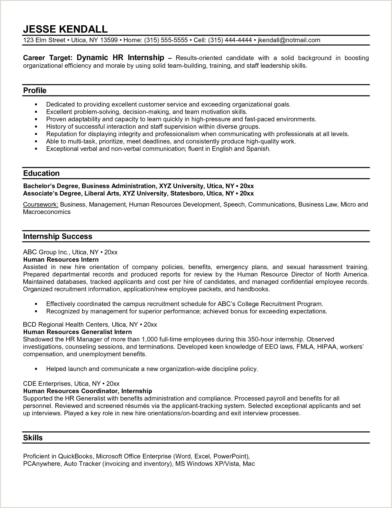 Sample Human Resources Manager Resume Elegant Human Resource
