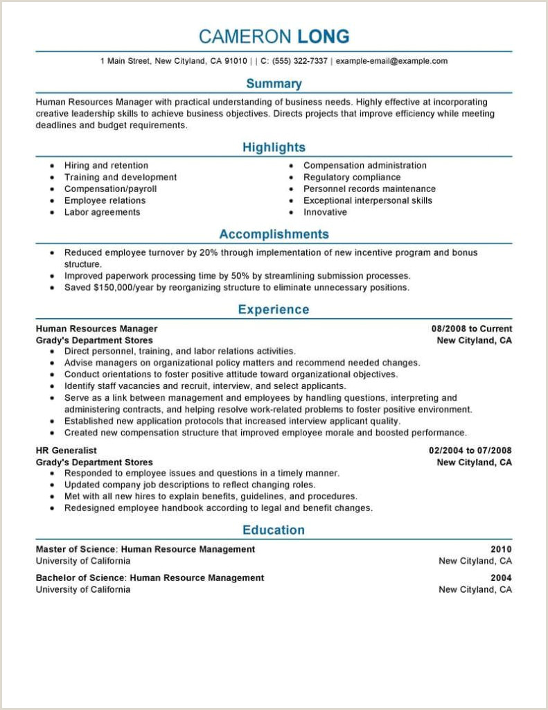 Training Manager Resume Templates Template Nanica Sample And
