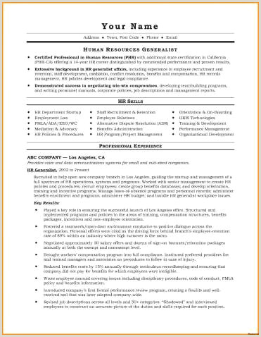 Human Resources Manager Resume Human Resources Manager Resume