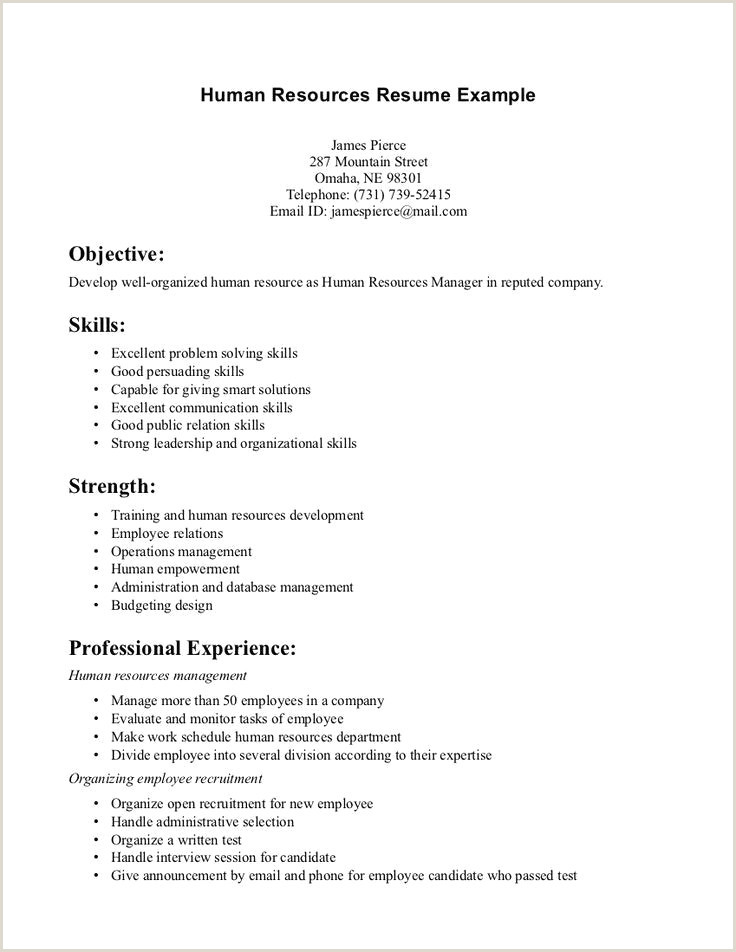 Awesome Hr Resume Examples – 50ger