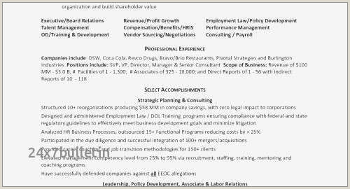 Human Resource Manager Resume Example Free Human Resources