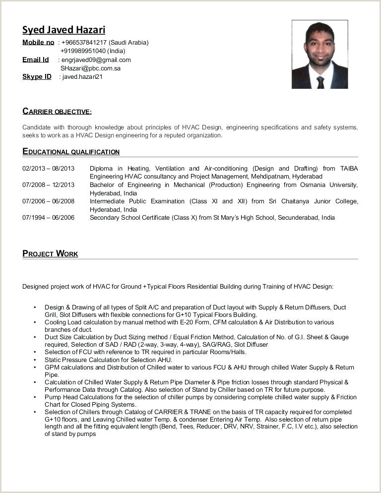 Hvac Service Technician Resume Hvac Design Engineer Sample Resume – Dstic
