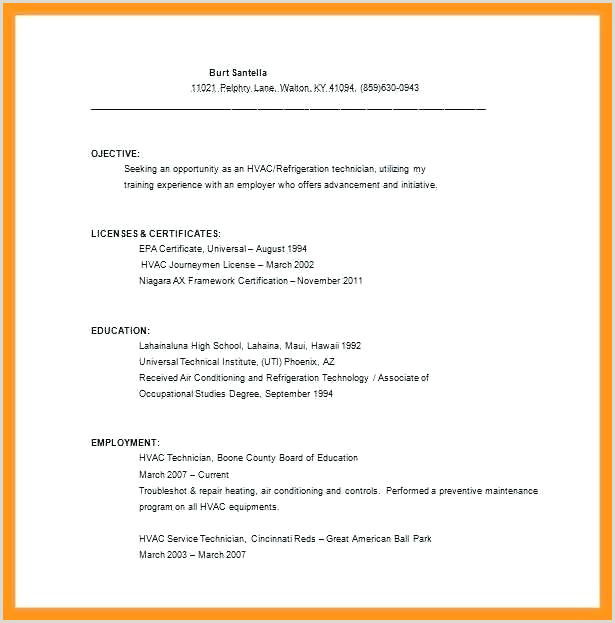 Luxury Entry Level Hvac Technician Resume And Resumes