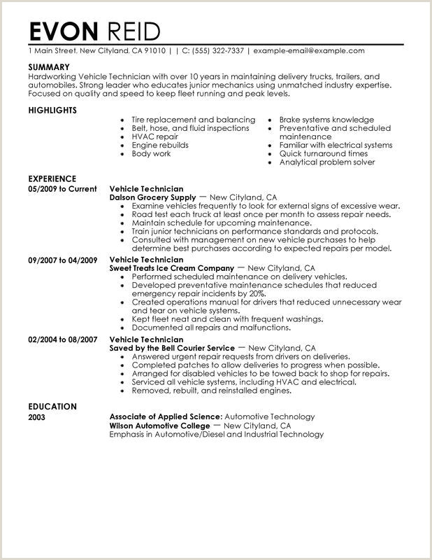Hvac Technician Resume Examples Tech Resume Samples