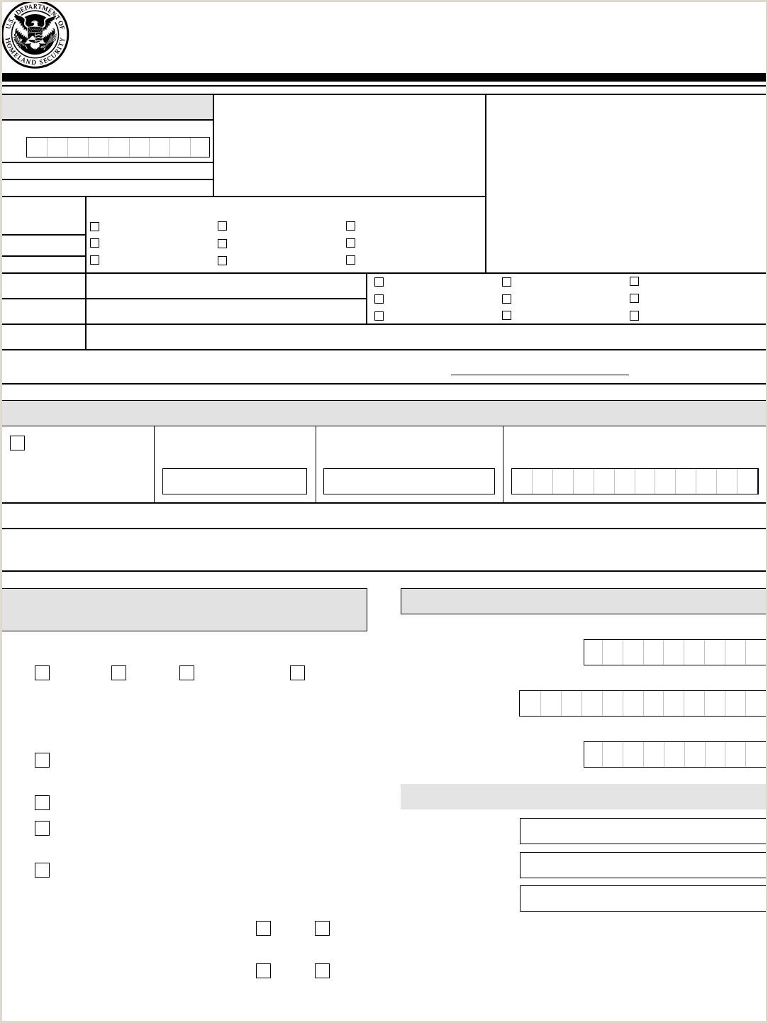 Form I130 I Instructions Mailing Address I130a Sample