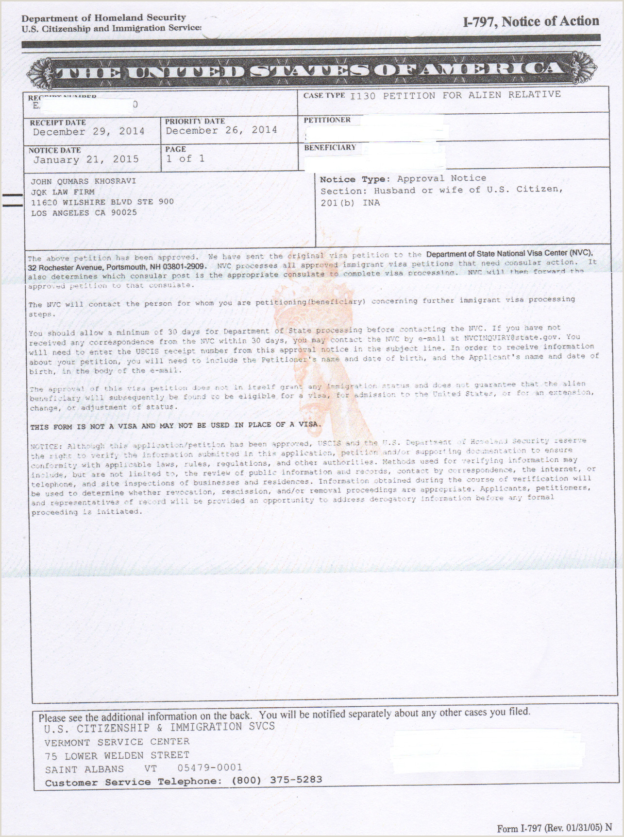 I 130 Cover Letter Sample for Parents form I130 I Instructions Mailing Address I130a Sample
