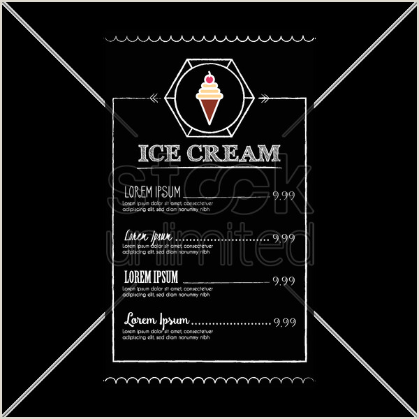 Ice cream menu design Vector Image