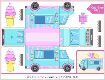 Ice Cream Packaging Template Ice Cream Truck Template Stock S & Vectors