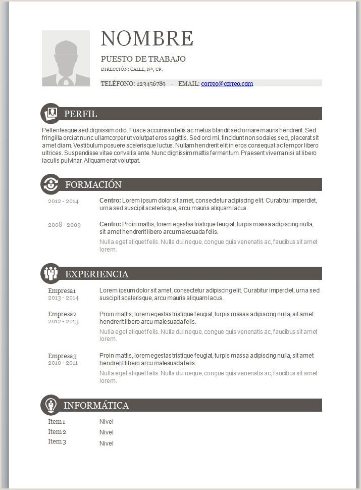 Modelo curriculum vitae basico para rellenar ftithcm