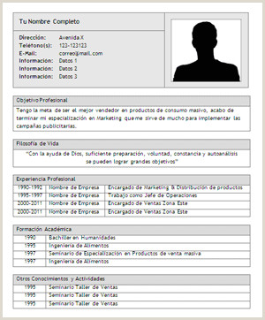 Imagenes De Curriculum Vitae Para Rellenar Modelos De Curriculum Vitae Vacios Para Rellenar Modelo De