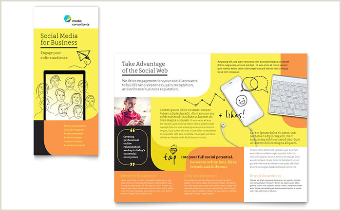 Indesign Product Catalog Template social Media Consultant Tri Fold Brochure Template Design
