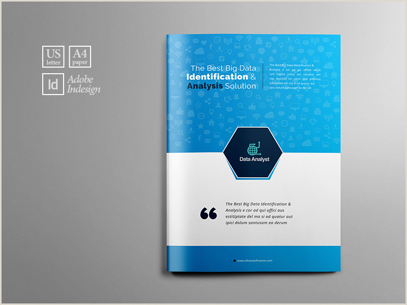 Business Data Analysis Brochure Template by Layout Design