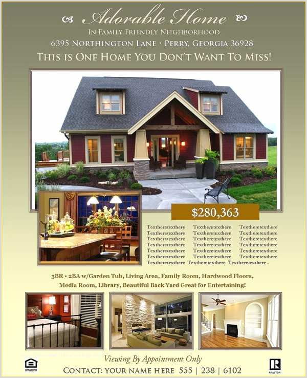 Indesign Real Estate Flyer Templates Real Estate Flyer Template Free 38 Real Estate Flyer