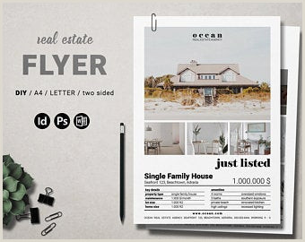 Indesign Real Estate Flyer Templates Realtor Flyer