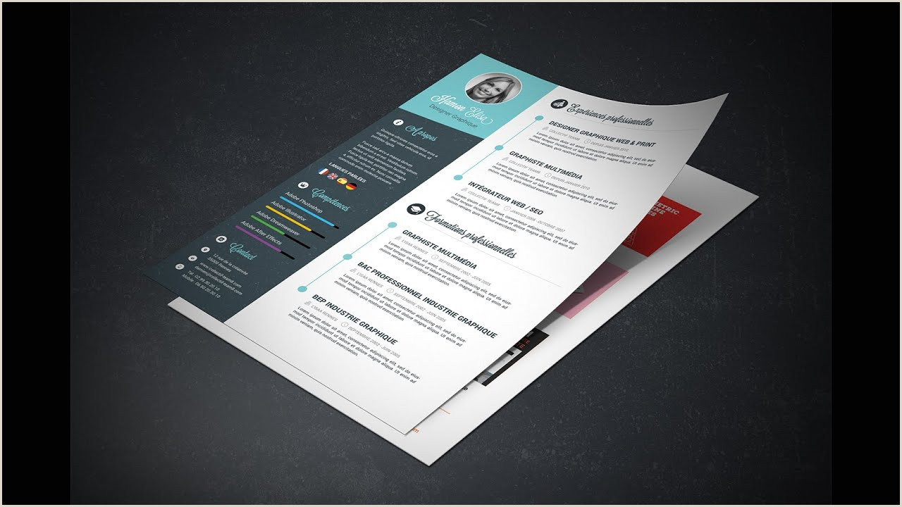 Indesign to Psd Cv Indesign Gratuit Oo58