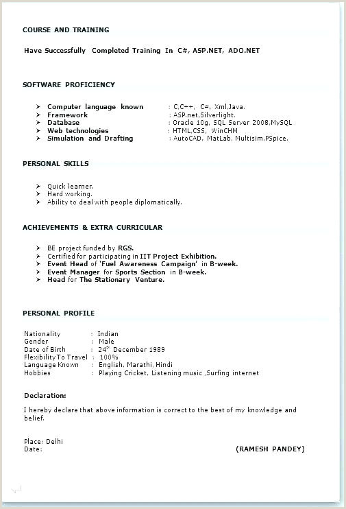 Indian Fresher Resume Format Download In Ms Word Format Curriculum Vitae Ms Word Resume Sample Free Download