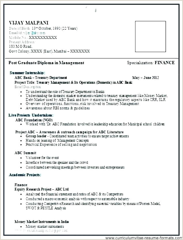 Indian Fresher Resume format Download In Ms Word Good Resume Templates for Freshers – Hayatussahabah