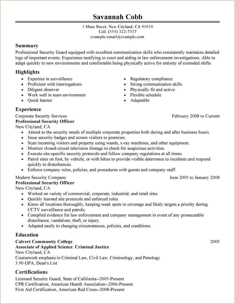 Indian Lawyer Resume Sample Best Professional Security Ficer Resume Example