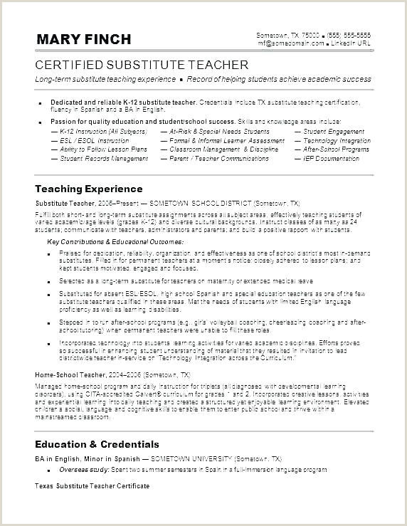 English Teacher Job Description Resume
