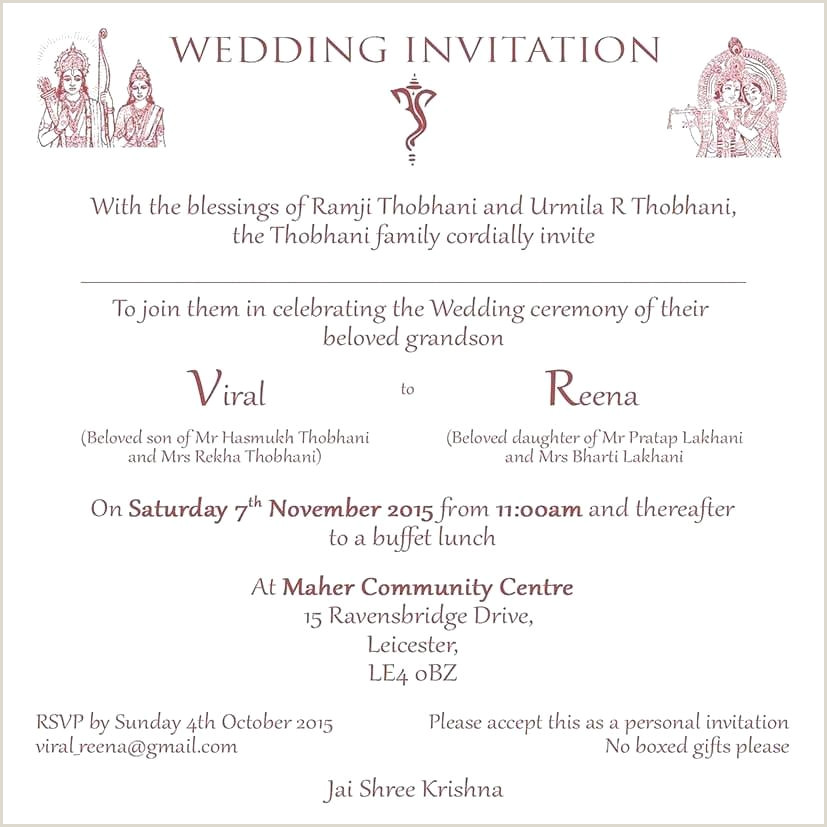 Hindu Wedding Invitation Wordings Wording 3 In Hindi