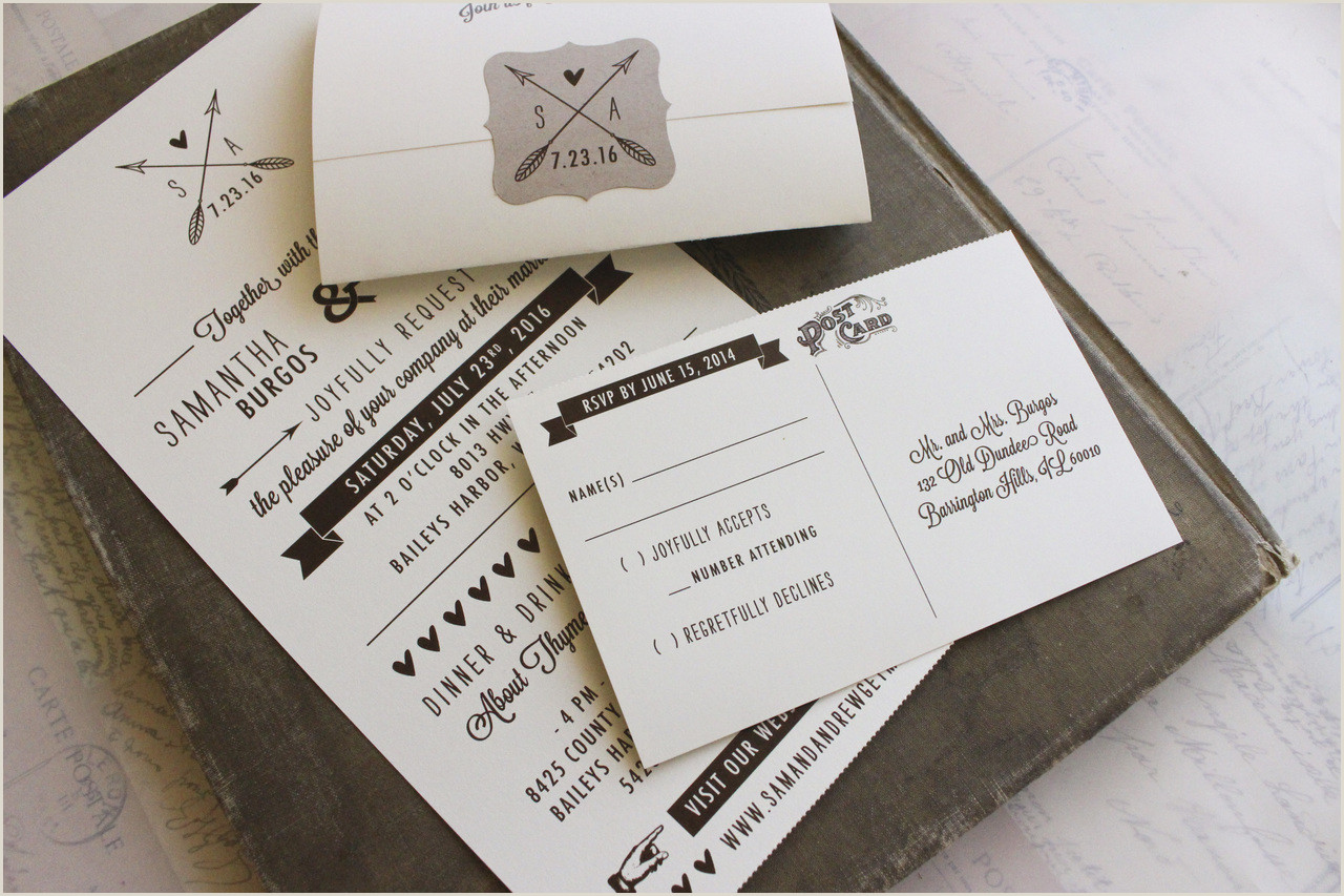 Inexpensive Seal and Send Wedding Invitations Rustic Seal and Send Wedding Invitation All In E Wisconsin