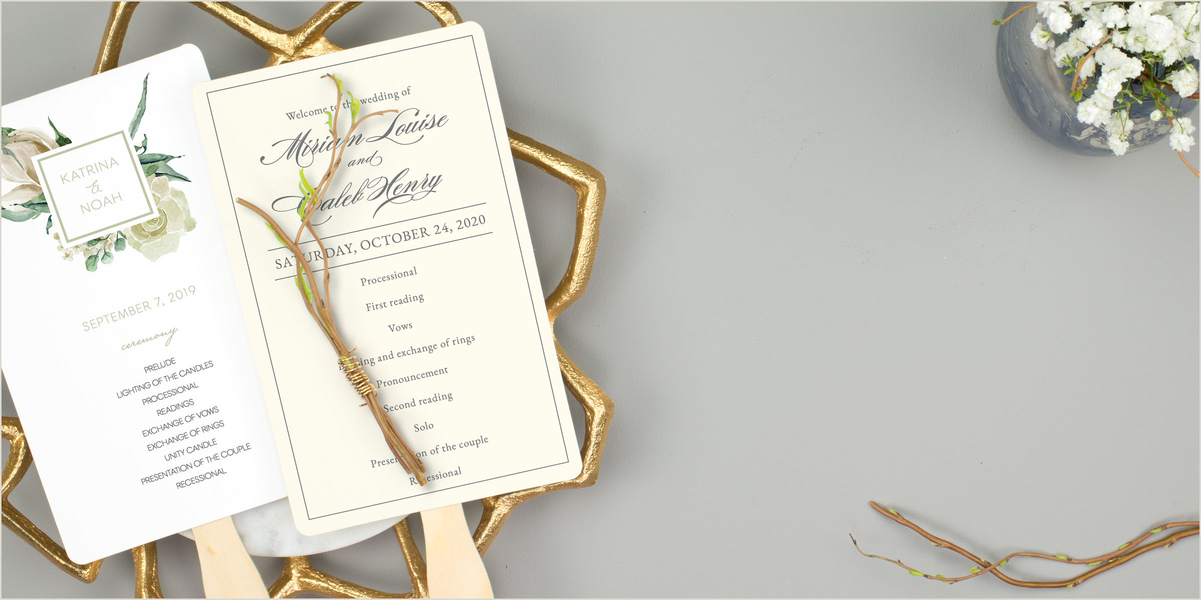 Inexpensive Seal and Send Wedding Invitations Wedding Program Fans