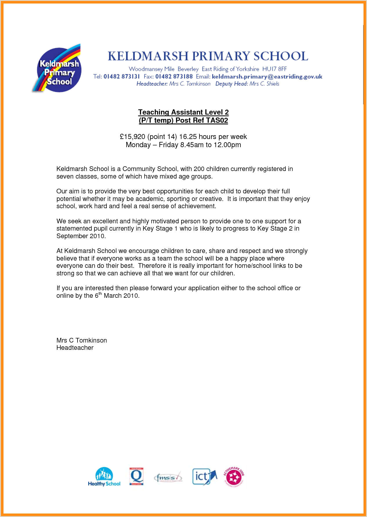 Instructional assistant Cover Letter 12 How to Write A Cover Letter for Teachers