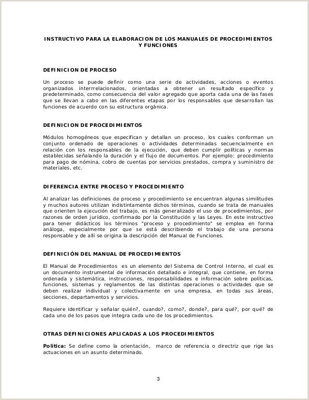 Instructivo formato Unico De Hoja De Vida Instructivo Para La Elaboracion De Los Manuales De