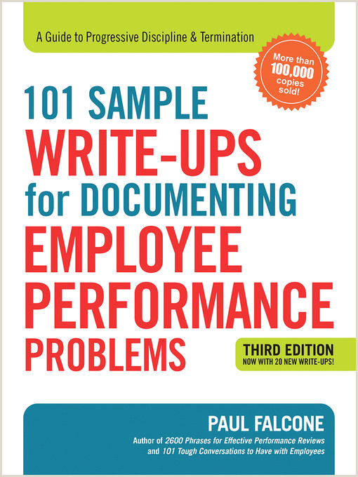 101 Sample Write Ups for Documenting Employee Performance