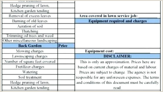 7 Graphic Estimate Disclaimer Wording Cost Sample – appily