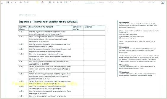 Qualification Audit Checklist Report Supplier Schedule