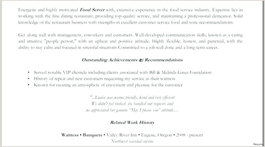 Job Description for Waitress 49 Restaurant Server Job Description for Resume