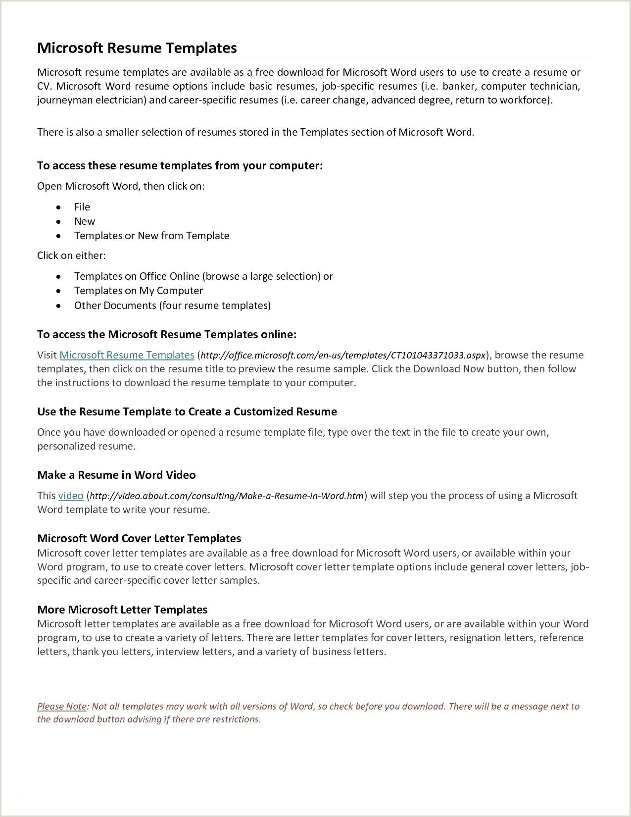 Job Reference Template Word Free Resume Templates for Microsoft Word – Salumguilher
