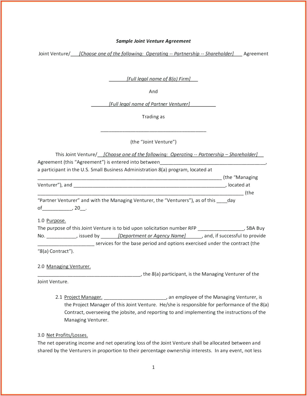 joint tenancy agreement template free – verypage