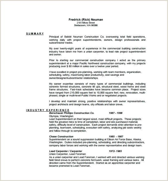 carpenter resume template – coinsnow