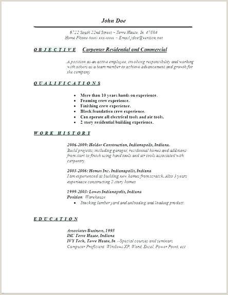 Construction Job Description Resume Services Carpentry And