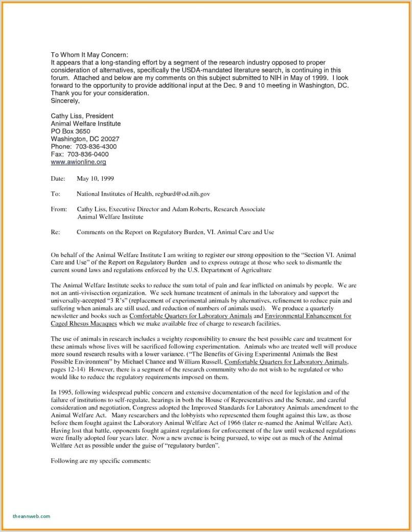 Resume Cover Letter Examples For Veterinary Technician