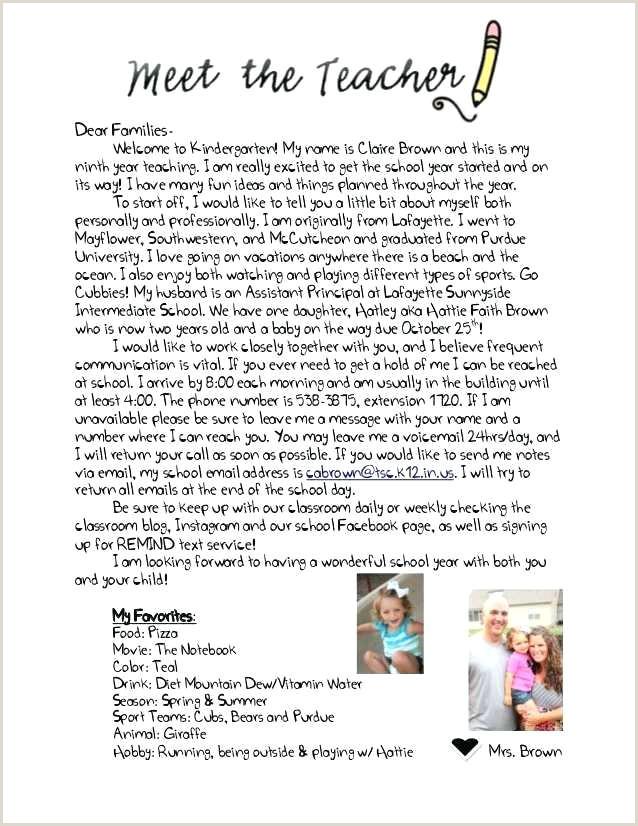 Kindergarten Welcome Letter Template Teacher Wel E Letter Template