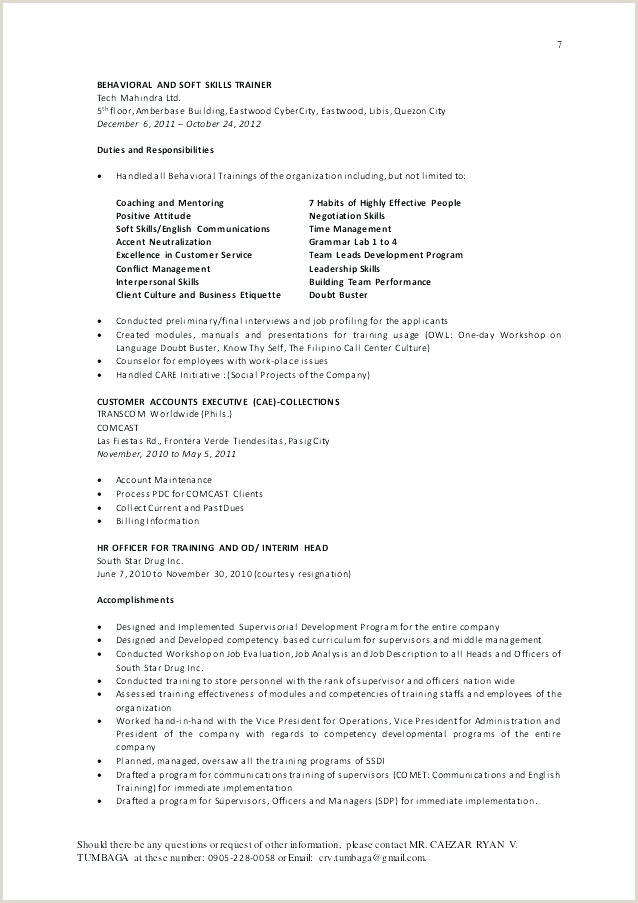 Lab Skills On Resume Star Resume Template