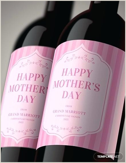 Free Mothers Day Wine Label Template Labels Templates