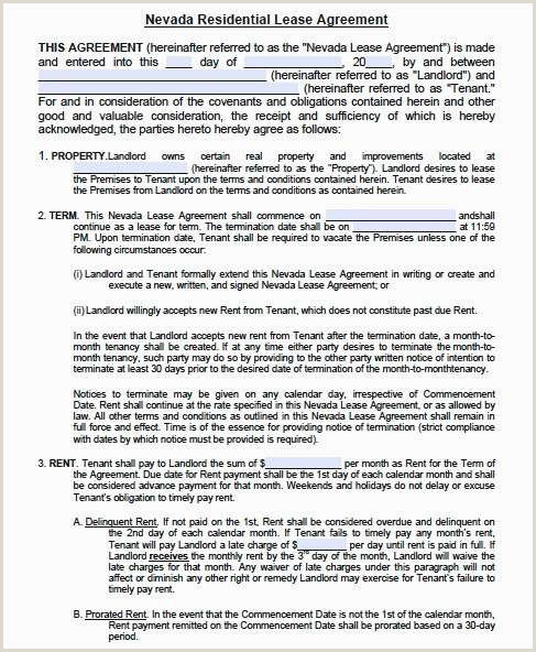 Rental Agreement Letter Sample