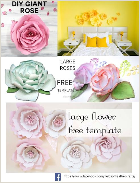 Large Flower Petal Template Free Templates & Tutorials for Making Paper Flowers with
