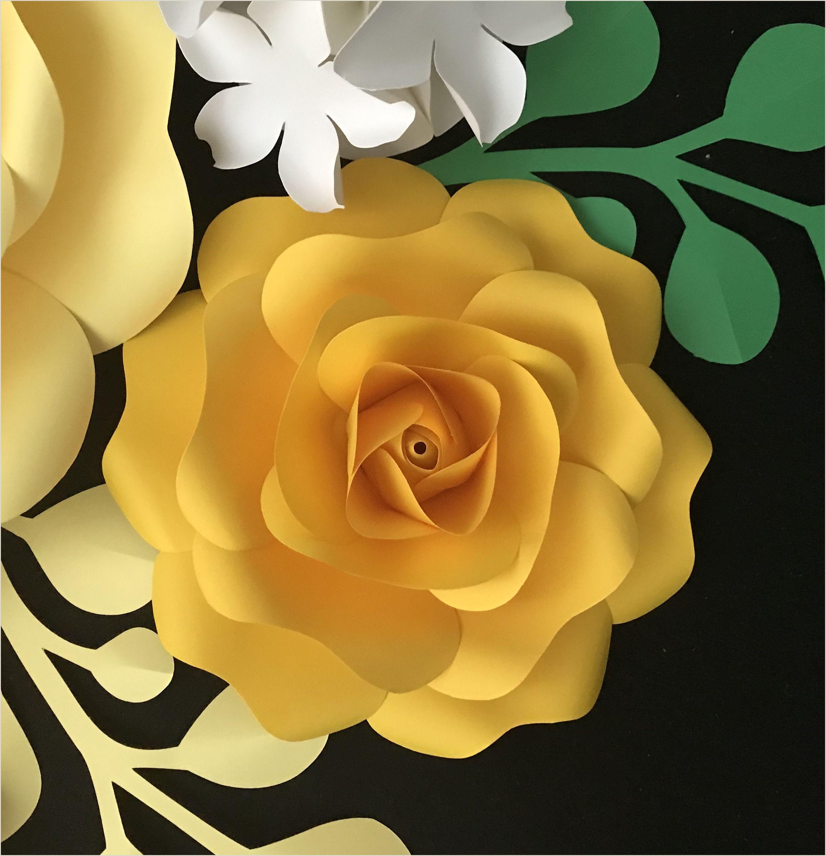 Large Flower Petal Template Paper Rose Template Paper Flower Template Flower Petal
