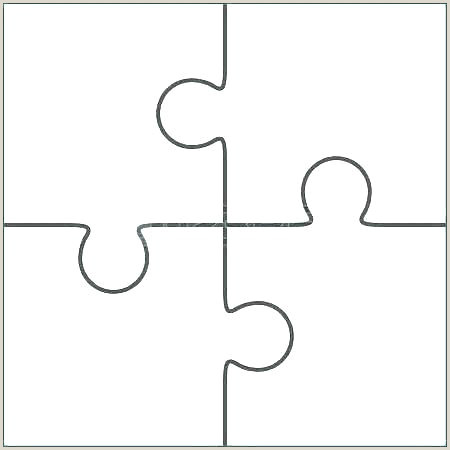 Large Puzzle Piece Template Printable Giant Puzzle Template